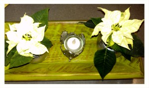 Puro II Tray painted with Sono Inspired's Chartreuse and distressed to give an aged appeal.