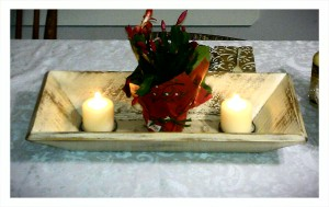 Puro Long Tray by Sono Inspired in a distressed Ivory