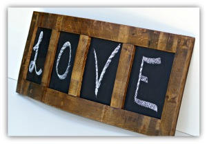 Wine Stave Four Panel Chalkboard