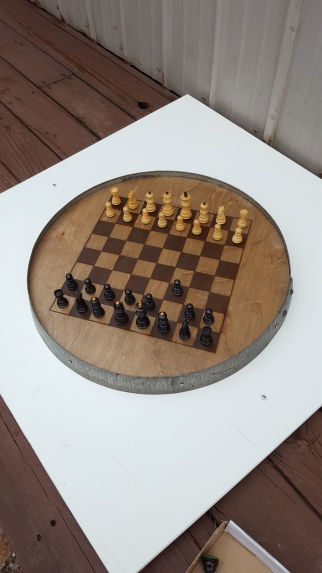 Barrel Ring Chess Set BRCB-P